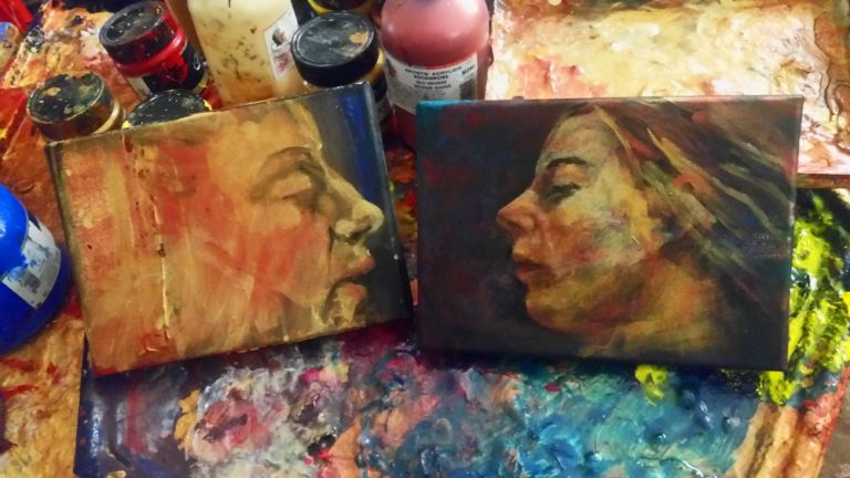 Some studio sketches from Billy Shannon�s studio in June      2015
